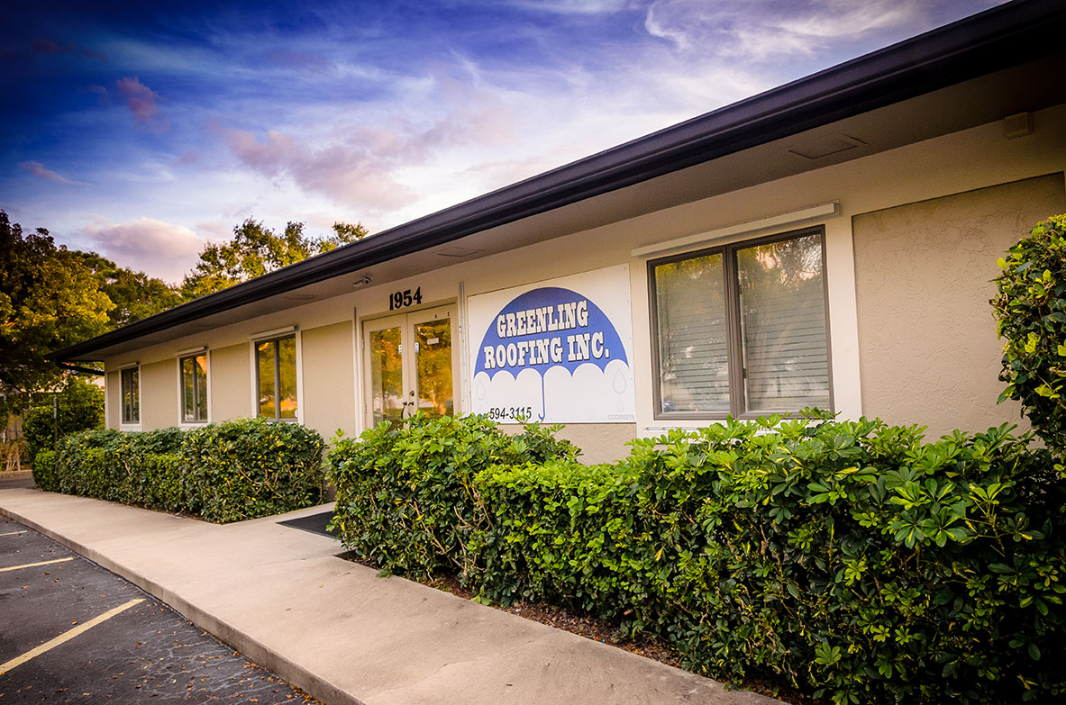 Greenling Roofing's Naples Roofing Showroom located at 1954 J & C Blvd. Naples, FL 34109 | Naples Roofing Contractors