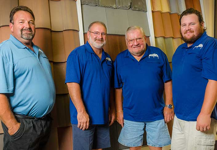 Mike, Dan Greenling, George Greenling and Dan Greenling Jr. | Greenling Roofing Naples Roofing Contractors